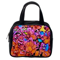 Floral Dreams 15 Classic Handbags (one Side) by MoreColorsinLife