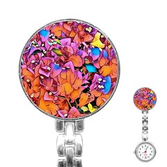 Floral Dreams 15 Stainless Steel Nurses Watch