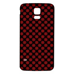 Pattern Samsung Galaxy S5 Back Case (white) by ValentinaDesign