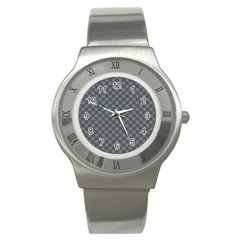 Pattern Stainless Steel Watch by ValentinaDesign
