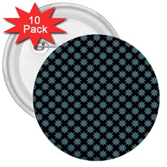 Pattern 3  Buttons (10 Pack)  by ValentinaDesign