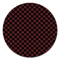 Pattern Magnet 5  (round) by ValentinaDesign