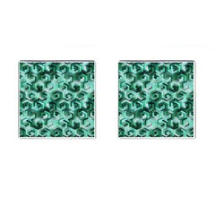 Pattern Factory 23 Teal Cufflinks (square) by MoreColorsinLife