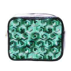 Pattern Factory 23 Teal Mini Toiletries Bags by MoreColorsinLife