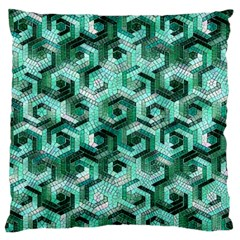 Pattern Factory 23 Teal Standard Flano Cushion Case (one Side) by MoreColorsinLife