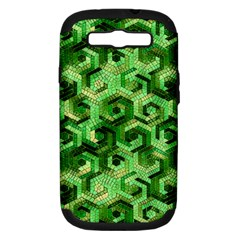 Pattern Factory 23 Green Samsung Galaxy S Iii Hardshell Case (pc+silicone) by MoreColorsinLife