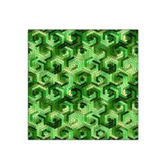 Pattern Factory 23 Green Satin Bandana Scarf by MoreColorsinLife