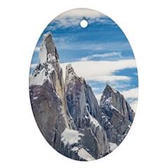 Cerro Torre Parque Nacional Los Glaciares  Argentina Oval Ornament (two Sides) by dflcprints
