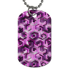 Pattern Factory 23 Pink Dog Tag (two Sides) by MoreColorsinLife