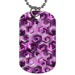 Pattern Factory 23 Pink Dog Tag (Two Sides) Back