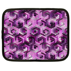 Pattern Factory 23 Pink Netbook Case (xl)  by MoreColorsinLife