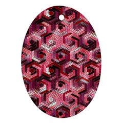 Pattern Factory 23 Red Oval Ornament (two Sides) by MoreColorsinLife