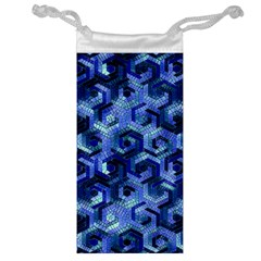 Pattern Factory 23 Blue Jewelry Bag by MoreColorsinLife