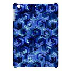 Pattern Factory 23 Blue Apple Ipad Mini Hardshell Case by MoreColorsinLife