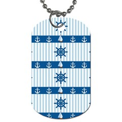 Sea Pattern Dog Tag (two Sides) by Valentinaart