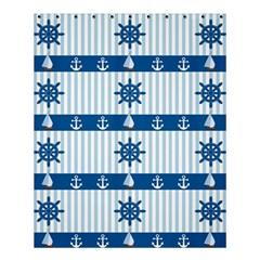 Sea Pattern Shower Curtain 60  X 72  (medium)  by Valentinaart