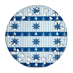 Sea Pattern Ornament (round Filigree) by Valentinaart