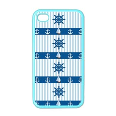 Sea Pattern Apple Iphone 4 Case (color) by Valentinaart