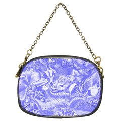 Shimmering Floral Damask,blue Chain Purses (two Sides)  by MoreColorsinLife