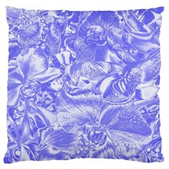 Shimmering Floral Damask,blue Large Cushion Case (One Side)