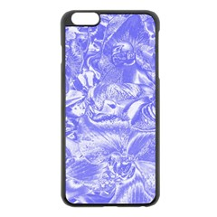 Shimmering Floral Damask,blue Apple Iphone 6 Plus/6s Plus Black Enamel Case by MoreColorsinLife
