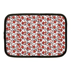 Roses Pattern Netbook Case (medium)  by Valentinaart