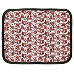Roses Pattern Netbook Case (xxl)  by Valentinaart