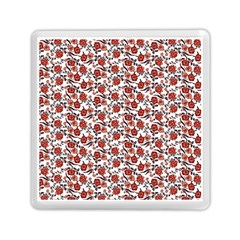 Roses Pattern Memory Card Reader (square)  by Valentinaart