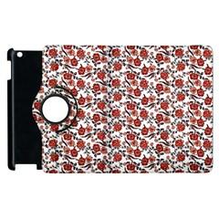 Roses Pattern Apple Ipad 2 Flip 360 Case by Valentinaart