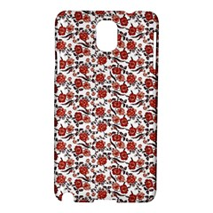 Roses Pattern Samsung Galaxy Note 3 N9005 Hardshell Case by Valentinaart