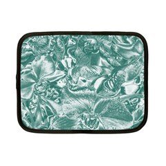 Shimmering Floral Damask, Teal Netbook Case (small)  by MoreColorsinLife
