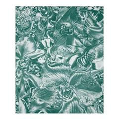Shimmering Floral Damask, Teal Shower Curtain 60  X 72  (medium)  by MoreColorsinLife