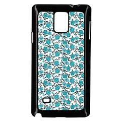 Roses Pattern Samsung Galaxy Note 4 Case (black) by Valentinaart