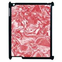 Shimmering Floral Damask Pink Apple Ipad 2 Case (black) by MoreColorsinLife