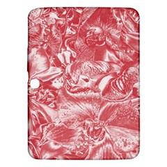 Shimmering Floral Damask Pink Samsung Galaxy Tab 3 (10 1 ) P5200 Hardshell Case  by MoreColorsinLife