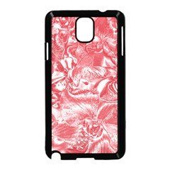 Shimmering Floral Damask Pink Samsung Galaxy Note 3 Neo Hardshell Case (Black)