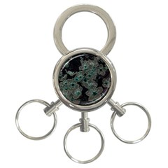 Glowing Flowers In The Dark C 3 Ring Key Chains by MoreColorsinLife