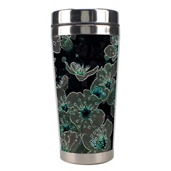 Glowing Flowers In The Dark C Stainless Steel Travel Tumblers by MoreColorsinLife