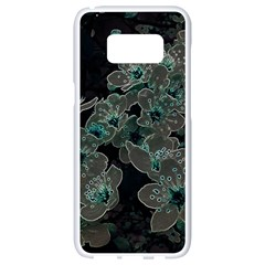 Glowing Flowers In The Dark C Samsung Galaxy S8 White Seamless Case