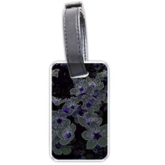 Glowing Flowers In The Dark B Luggage Tags (one Side)  by MoreColorsinLife
