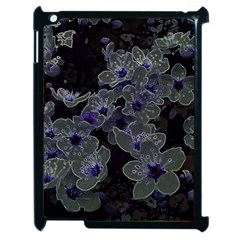 Glowing Flowers In The Dark B Apple Ipad 2 Case (black) by MoreColorsinLife