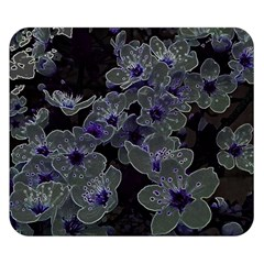 Glowing Flowers In The Dark B Double Sided Flano Blanket (small)  by MoreColorsinLife