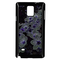 Glowing Flowers In The Dark B Samsung Galaxy Note 4 Case (black) by MoreColorsinLife