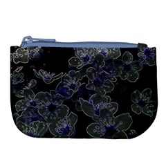 Glowing Flowers In The Dark B Large Coin Purse