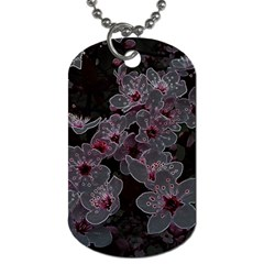 Glowing Flowers In The Dark A Dog Tag (two Sides) by MoreColorsinLife