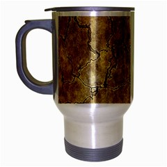 Cracked Skull Bone Surface A Travel Mug (silver Gray) by MoreColorsinLife