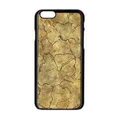 Cracked Skull Bone Surface A Apple Iphone 6/6s Black Enamel Case by MoreColorsinLife