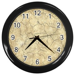 Cracked Skull Bone Surface B Wall Clocks (black) by MoreColorsinLife