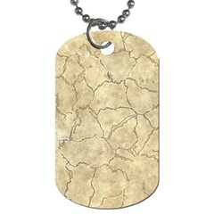 Cracked Skull Bone Surface B Dog Tag (two Sides) by MoreColorsinLife