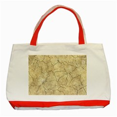Cracked Skull Bone Surface B Classic Tote Bag (red) by MoreColorsinLife
